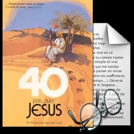Quarante pas avec Jésus, de Michel Lousberg