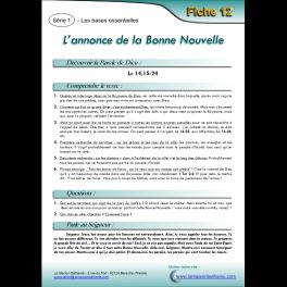 12 - L'annonce de la Bonne Nouvelle