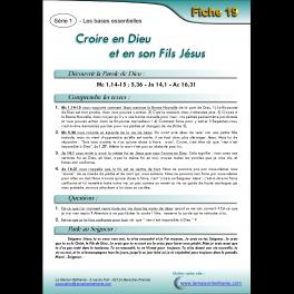 19 - Croire en Dieu et en son Fils Jésus