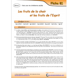 52 - Les fruits de la chair et les fruits de l'Esprit