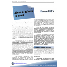 Bernard REY - Jésus a vaincu la mort
