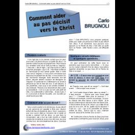Carlo BRUGNOLI - Comment aider au pas décisif vers le Christ
