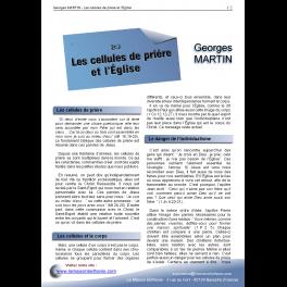 Georges MARTIN - Les cellules de prière et l'Église
