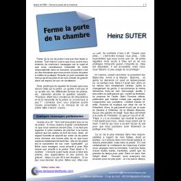 Heinz SUTER - Ferme la porte de ta chambre