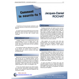 Jacques-Daniel ROCHAT - Comment te nourris-tu ?