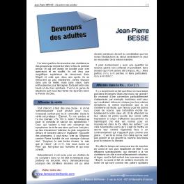Jean-Pierre BESSE - Devenons des adultes