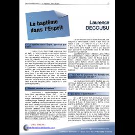 Laurence DECOUSU - Le baptême dans l'Esprit