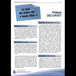 Philippe DECORVET - Le but de notre vie, louer Dieu