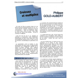Philippe GOLD-AUBERT - Croissez et multipliez