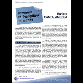 Raniero CANTALAMESSA - Comment ré-évangéliser le monde ?