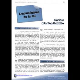 Raniero CANTALAMESSA - L'œcuménisme de la Foi