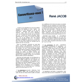 René JACOB - Convertissez-vous