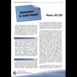 René JACOB - Demandez le Saint-Esprit