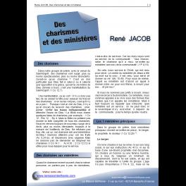 René JACOB - Des charismes et des ministères