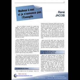 René JACOB - Malheur à moi si je n'annonce pas l'Évangile