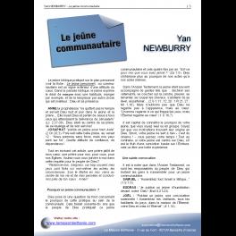 Yan NEWBURRY - Le jeûne communautaire