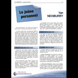 Yan NEWBURRY - Le jeûne personnel