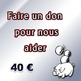 Faire un don de 40 €.