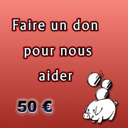 Faire un don de 50 €.